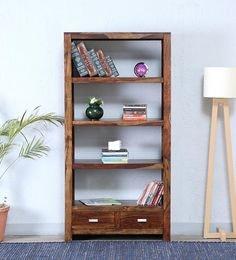 Oriel Tall Book Shelf In Provincial Teak Finish By Woodsworth