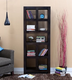 Acropolis Book Shelf In Warm Chestnut Finish