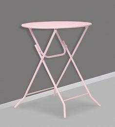 Bordeaux Steel Folding Coffee Table In Pink By Hauser