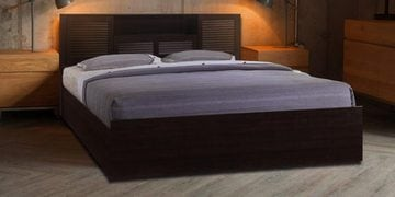 Bolton Queen Size Bed With Hydraulic Storage In Wenge Finish