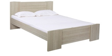 Boston Queen Size Bed With Drawer Storage In Oak Grey Finish By Alsapan