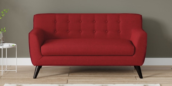 Bogota Two Seater Sofa In Red Colour By Casacraft