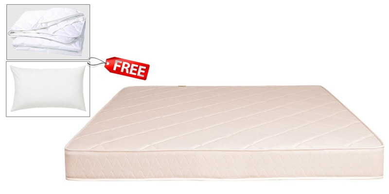 BOOM Health Queen Size (78x60) 5 Inches Thick Semi-Firm Mattress (FREE Pillow & Protector) by Springtek Ortho Coir