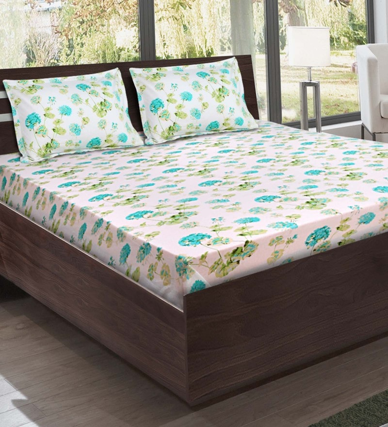 Multicolour Cotton Bedsheet by Bombay Dyeing