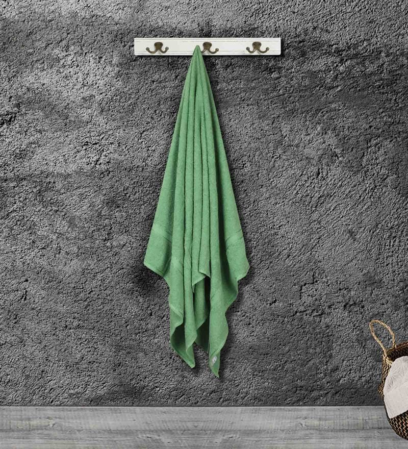 Bombay Dyeing Green Cotton 59 X 30 Inch Bath Towel