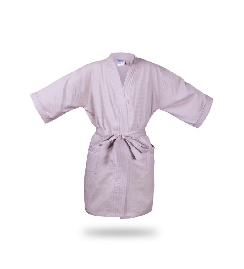 Bombay Dyeing Pink Cotton Waffle Large Size Bathrobe