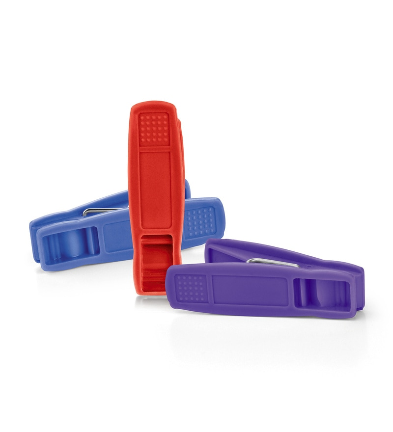 Grippy Pp Plastic Clothes Clips - Set of 24 by Bonita