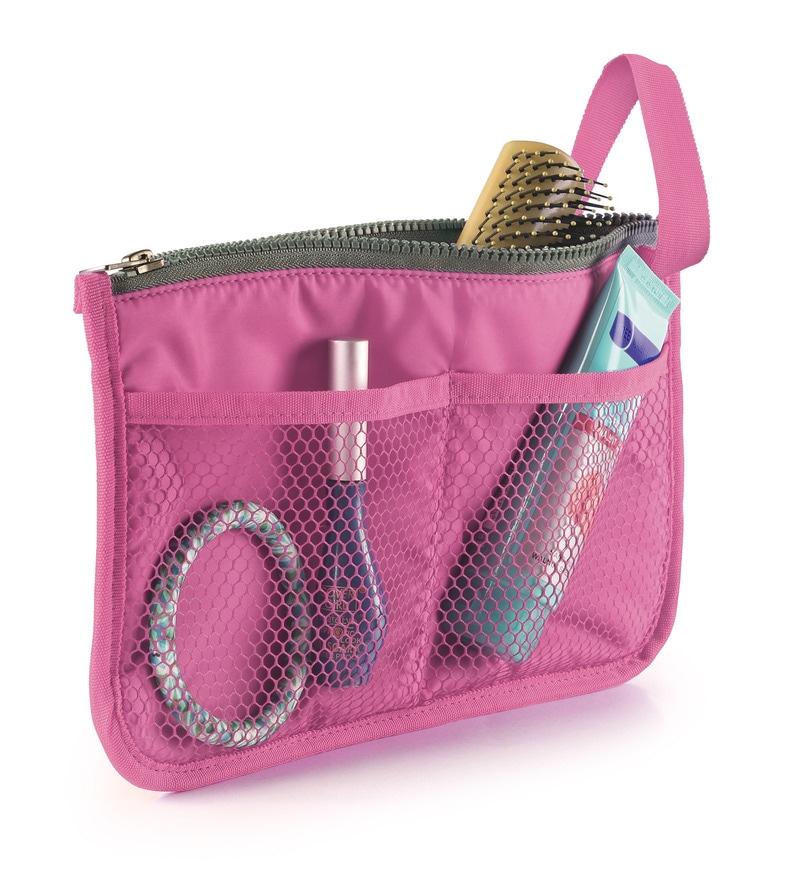 Bonita Treat Polyester Pink 7 Pocket Travel Organiser - Set of 3