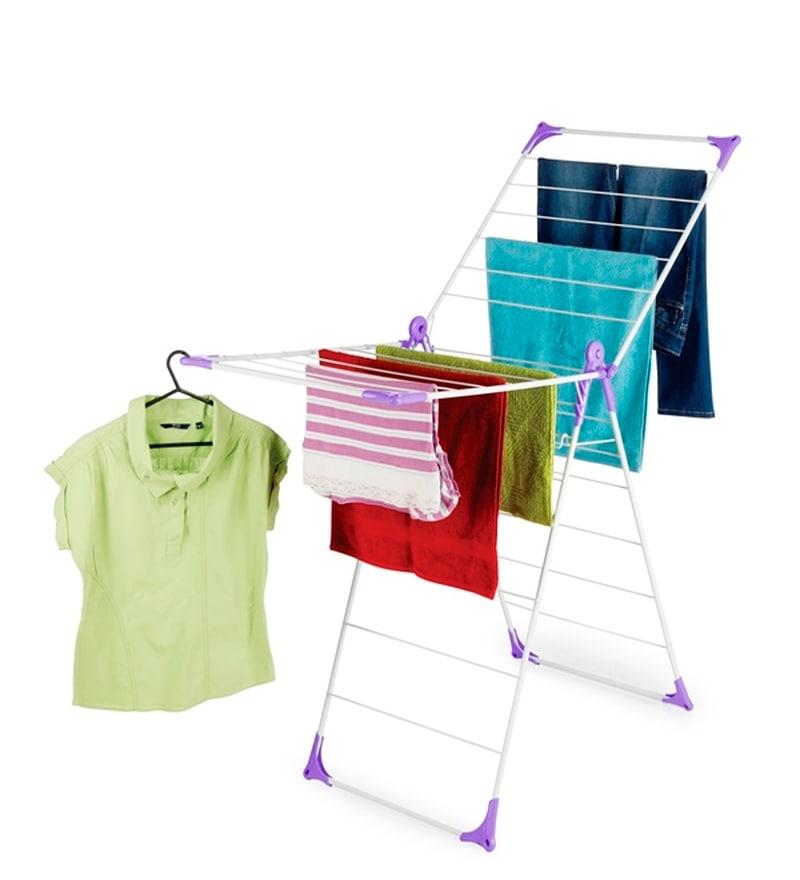 Bonita Steel Purple Wonderfold X-Wing Clothes Drying Stand