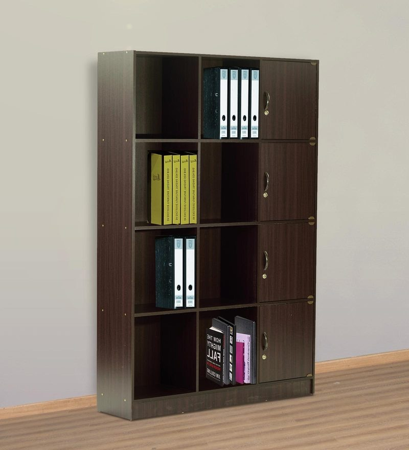 Book  Shelf with Four Cabinets & Eight Shelves in Wenge Finish by Marco