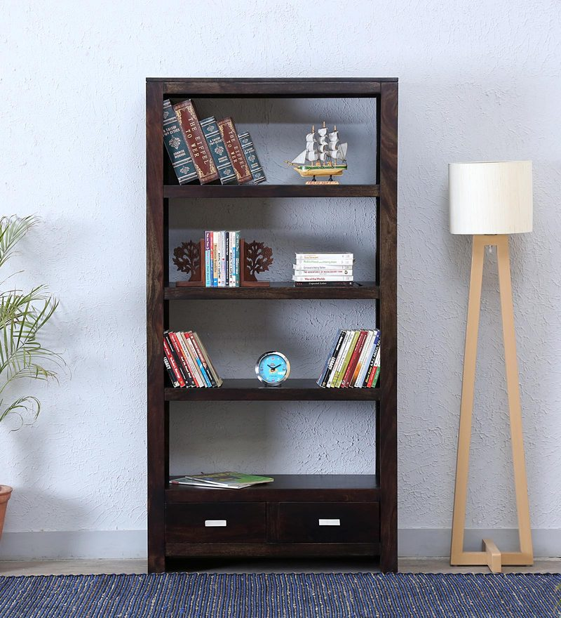 Oriel Tall Book Shelf In Warm Chestnut Finish By Woodsworth