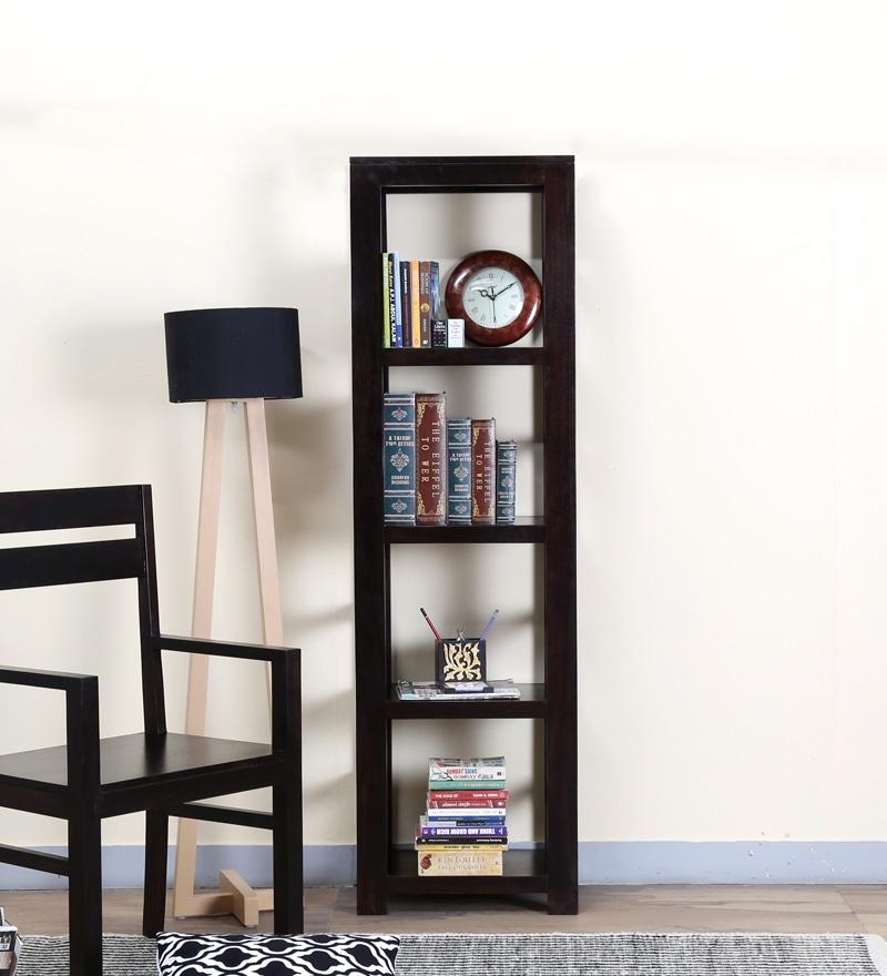 Enkel Tall Book Shelf in Warm Chestnut Finish by Woodsworth