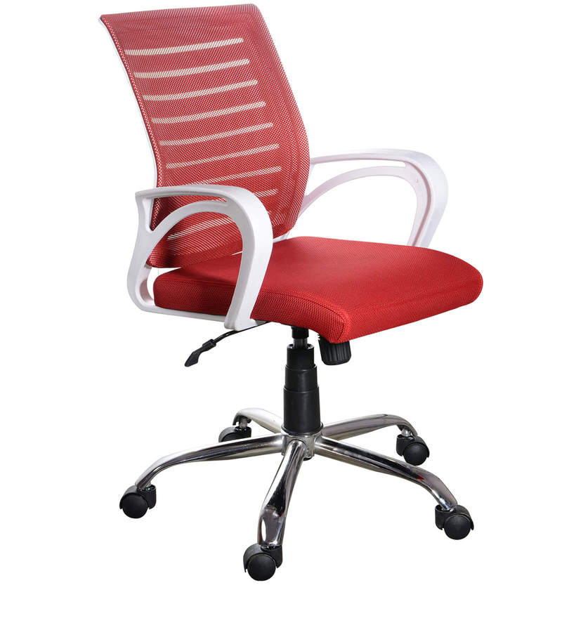Buy Boom Ergonomic Chair In Red Colour By Emperor Online