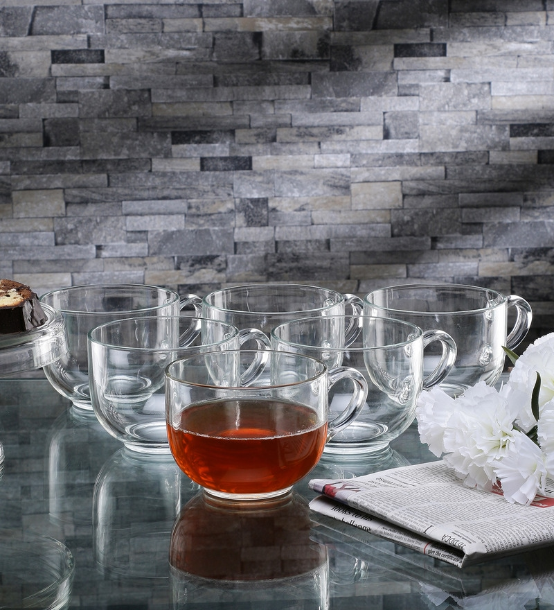 Borgonovo Borgo Glass 200 ML Breakfast Cup - Set Of 6