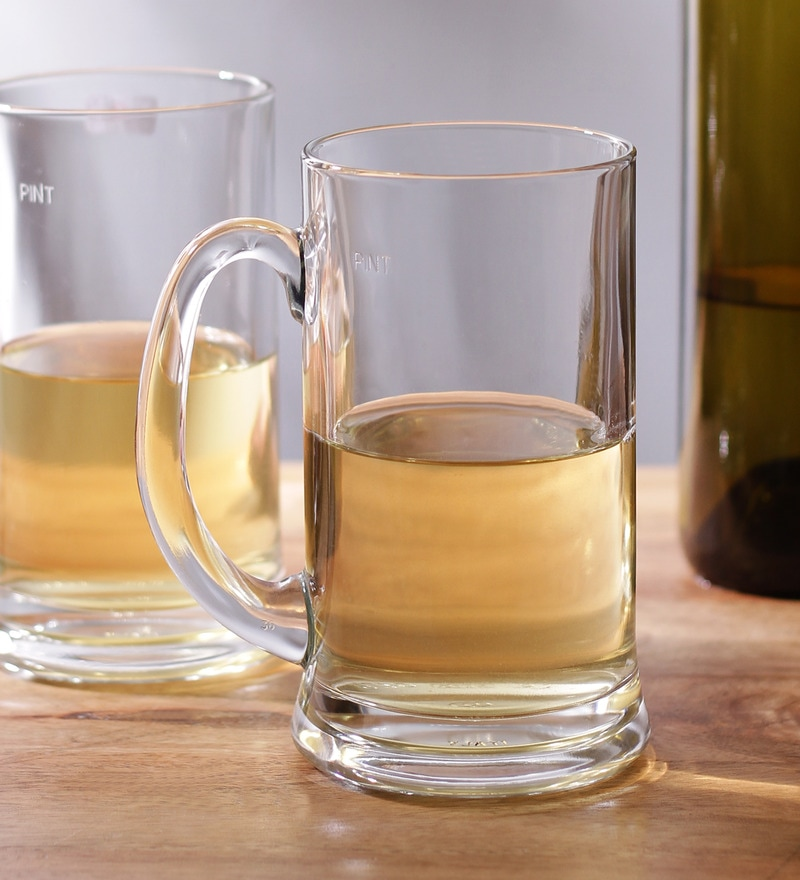 Borgonovo Glass 580 ML Beer Mug - Set Of 6