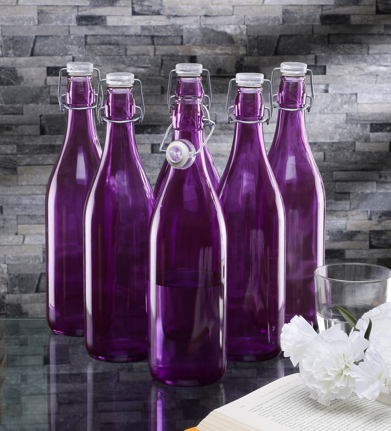Borgonovo Lella Viola Glass 1 L Bottle