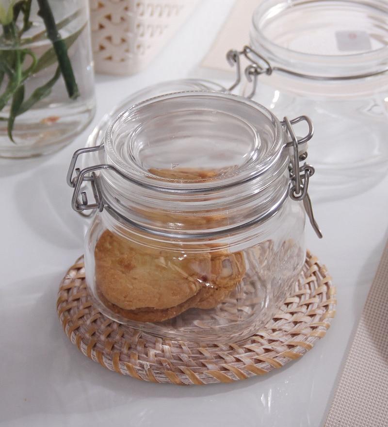 Borgonovo Vaso Gourmet Square 500 ML Jar