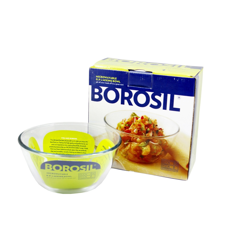 Borosil Borosilicate Glass Mixing Bowl - Set of 2