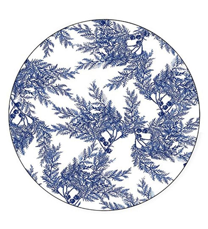 Boston International Caskata Studio Cedar Blue Melamine Dinner Plate