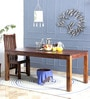 Oakville Six Seater Dining Table in Provincial Teak Finish by Woodsworth