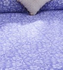 Bombay Dyeing Blue 100% Cotton Queen Size Bed Sheet - Set of 3