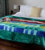 Bombay Dyeing Greens Polyester Queen Size Blanket 1 Pc