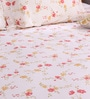 Cream Cotton King Size Bedsheet - Set of 3 by Bombay Dyeing