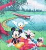Bombay Dyeing Multicolor Cotton Disney 86 x 55 Inch Single Bed Comforter
