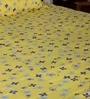 Yellows Nature & Florals Poly Cotton Queen Size Bed Sheets - Set of 3 by Bombay Dyeing