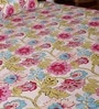 Pink Poly Cotton Floral Double Bed Sheet (with Pillow Cover) by Bombay Dyeing