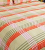 Green Cotton Queen Size Bedsheet - Set of 3 by Bombay Dyeing
