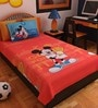Cartoon Print Single Cotton Bedsheet with Pillow Cover by Bombay Dyeing