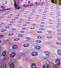 Lavender Cotton Queen Size Bedsheet - Set of 3 by Bombay Dyeing