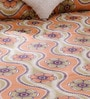 Orange Cotton Queen Size Bed Sheet - Set of 3 by Bombay Dyeing