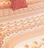 Orange Cotton Queen Size Bedsheet - Set of 3 by Bombay Dyeing
