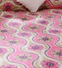 Bombay Dyeing Pink Cotton Queen Size Bed Sheet - Set of 3