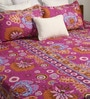 Pink Poly Cotton Queen Size Bedsheet - Set of 3 by Bombay Dyeing