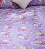 Purple 100% Cotton Queen Size Bed Sheet - Set of 3 by Bombay Dyeing