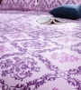 Purple Cotton Queen Size Bedsheet - Set of 3 by Bombay Dyeing
