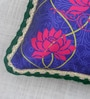 Bombay Mill Multicolour Matt Satin 12 x 24 Inch Mughal Style Print & Embroidery Cushion Cover