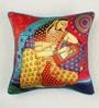 Multicolour Matt Satin 16 x 16 Inch Mughal Style Digital Print Cushion Cover by Bombay Mill