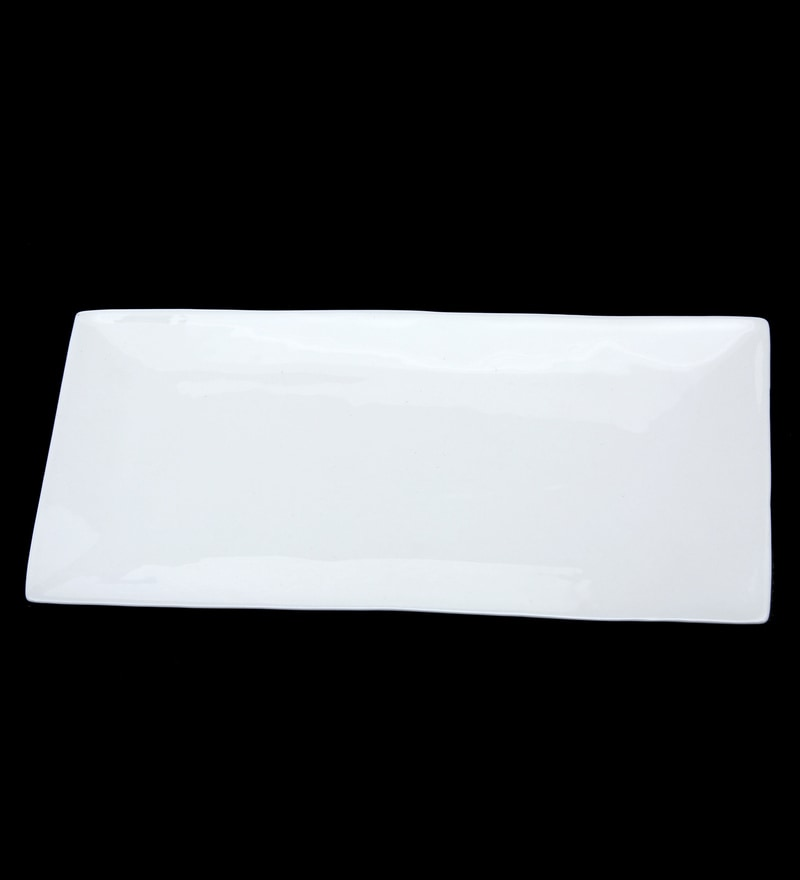 Bp Bharat Oblate Fine Bone China Big Platter - Set of 2
