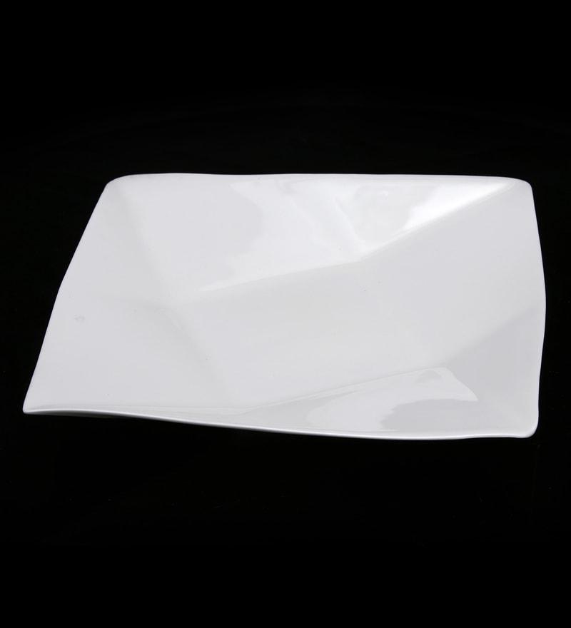 Bp Bharat Paper Shaped Fine Bone China Big Platter