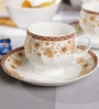 BP Bharat 150 ML Bone China Cup & Saucer - Set of 6