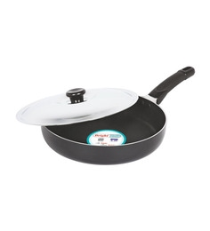 Bright Home Appliances Household Aluminum Fry Pan With Lid - 1424976