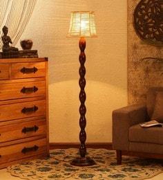 Brown Bamboo Floor Lamp - 1680044