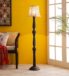 Brown Bamboo Floor Lamp - 1680011