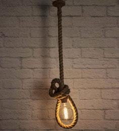 Brown Jute Pendent Lamp