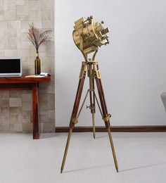 Brown Metal Floor Tripod Lamp - 1711243