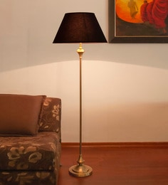 Brown Mild Steel Antique Floor Lamp - 1728313